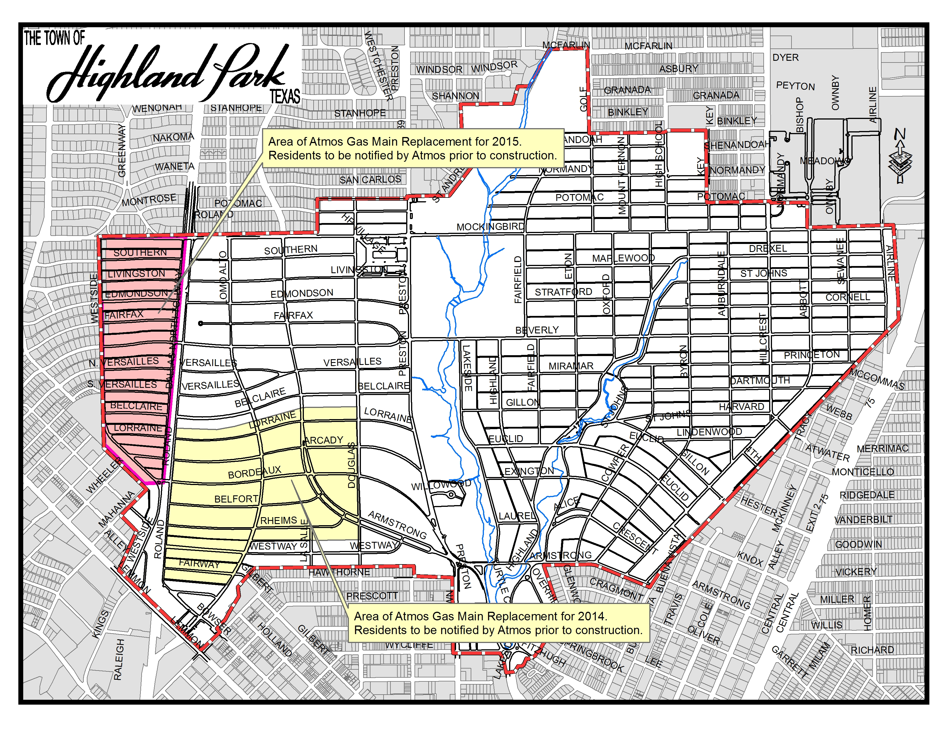 Highland Park Map Highland Park, TX   Official Website   Maps Highland Park Map
