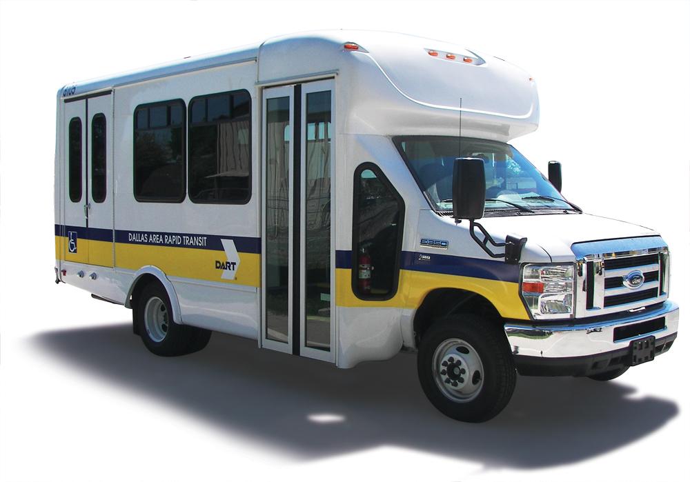White paratransit ford van