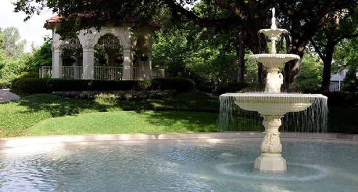 Photo of park gazebo and fountain