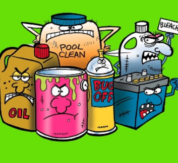 Household Hazardous Waste Cartoon