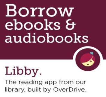 Libby app logo picture with eBooks and eAudiobooks wording