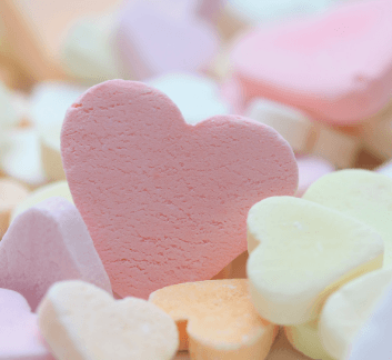 Image of candy hearts