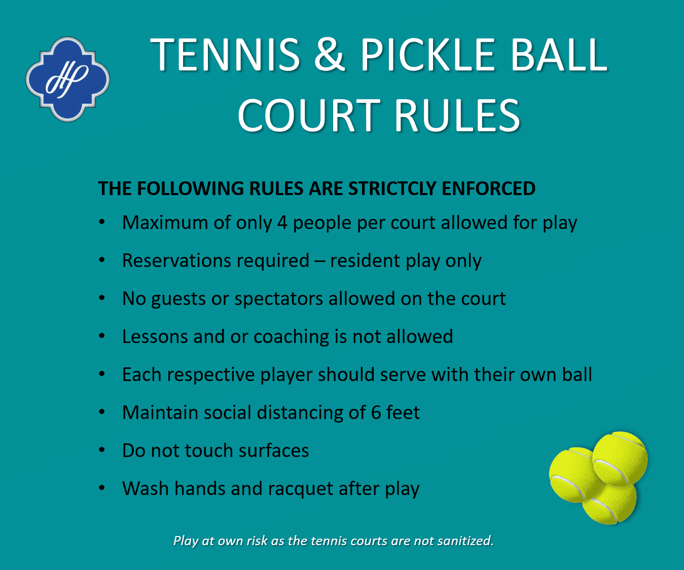 tennis court rules post covid19