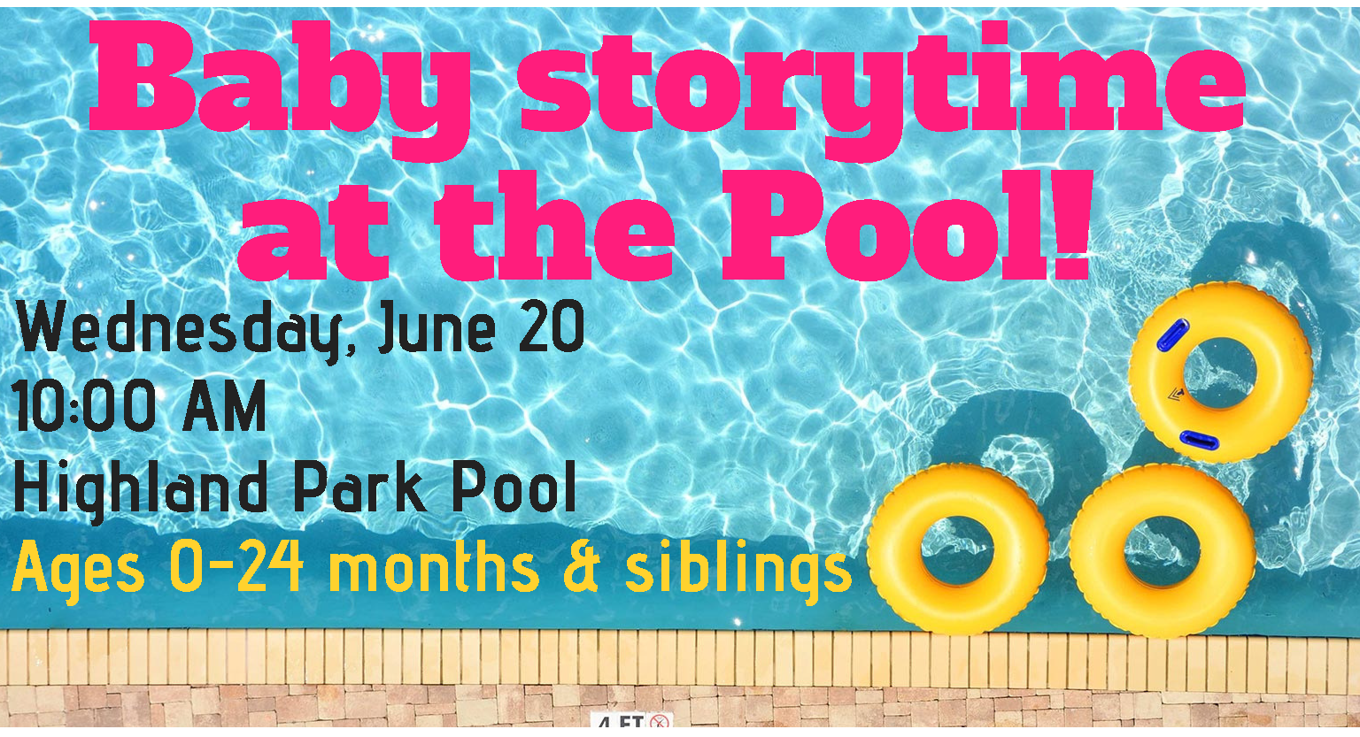 Baby storytime at the Pool!